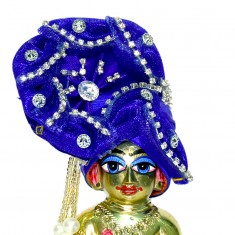 Blue Stone Work Laddu Gopal Pugree