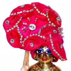 Rani Stone Work Laddu Gopal Pugree