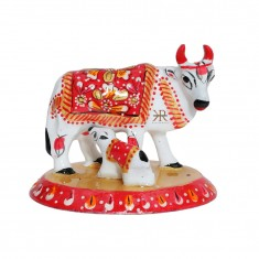 White Red Meena Work Cow With Calf
