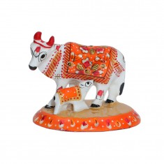 White Orange Meena Work Cow With Calf