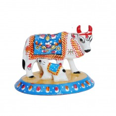 White Blue Meena Work Cow With Calf