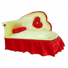 Beautiful Yellow Red Shaneel Work Bed With Storage