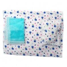Laddu Gopal Sea Green Floral Cotton Bed Set