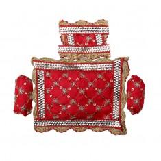 Red Designer Cushion Set