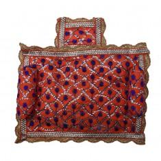Orange Sitara Work Cushion Set