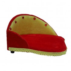 Royal Red Yellow Shaneel Work Sofa