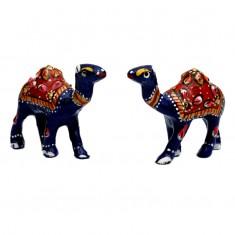 A Pair of Blue Meena Work Camel